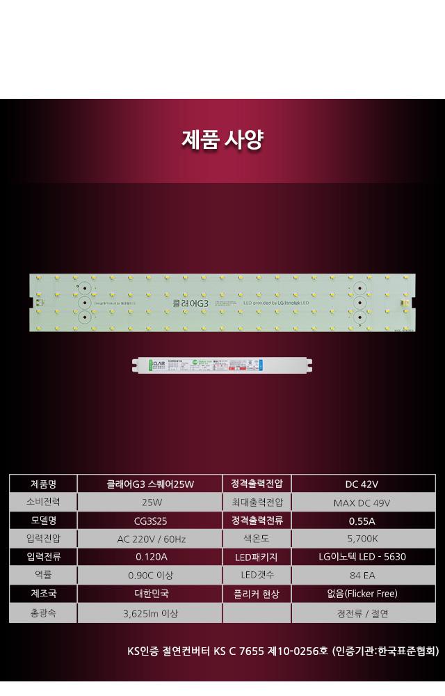 LED조명기구 리폼 LED모듈 25W 가정용LED조명 GN-2428