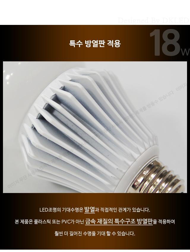 삼파장램프 교체 18W 6500K 주광색 LED전구 NS-2814 대경엘이디