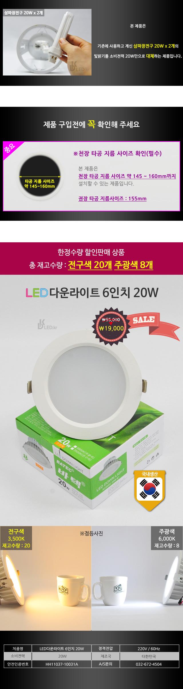 LED다운라이트